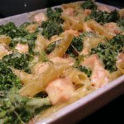Gratin de brocolis et pâtes