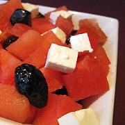 Salade d'été pastèque fêta