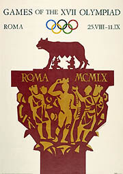 Affiche des Jeux Olympiques de Rome, 1960