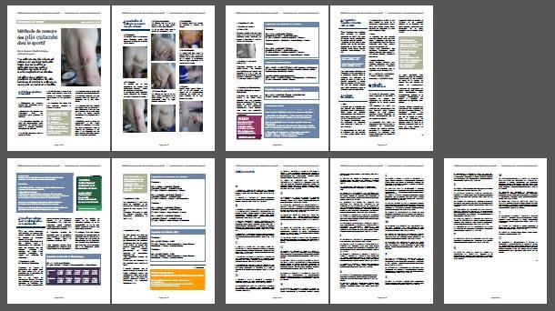 Fiche Pratique : Méthode de mesure des plis cutanés / Format A4, Pdf, 270 Ko, 9 pages.