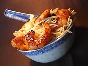 Nouilles chinoises aux pousses de soja