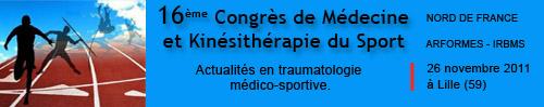 16ème congrès de médecine et de kinésithérapie du sport (2011)