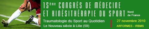 15ème congrès de médecine et de kinésithérapie du sport (2010)