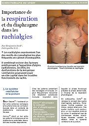 Rachialgies, respiration diaphragme