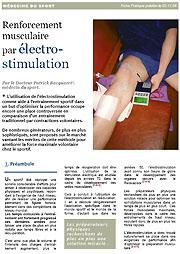 Renforcement musculaire par électrostimulation