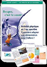 Brochure : Comment adapter son alimentation à l'effort ?