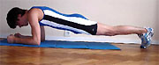 Gainage abdominal : posture de la planche