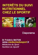 Le Suivi Nutrionnel Chez le Sportif : pdf, 13 vues, 280 Ko.