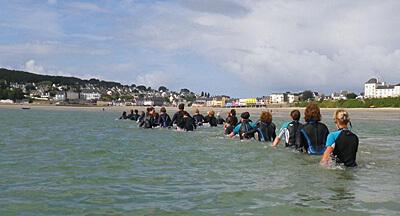 Marche en eau de mer ou aquajogging