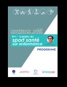 Programme de la soirée débat : le sport santé sur ordonnance du 27 septembre 2016