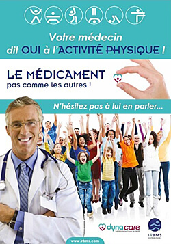 Sport sur ordonnance : Affiche de sensibilisation à la pratique de l'activité physique