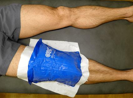 Arthroscopie : mettre de la glace après l'intervention.