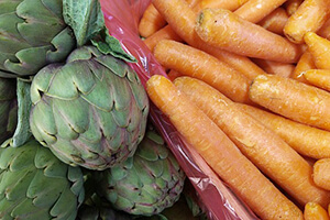 Artichauts, carottes, source de fibres