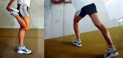 Étirements pour les jambes lourdes