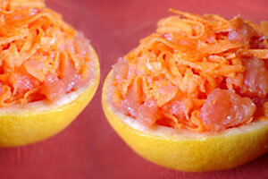 Recette sportive : salade de carottes au pamplemousse