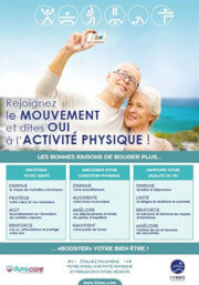 """Affiche de sensibilisation Sport Santé """"rejoignez le mouvement"""""""
