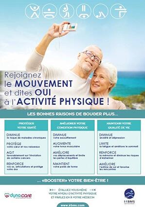 Affiche de sensibilisation Sport Santé : rejoignez le mouvement