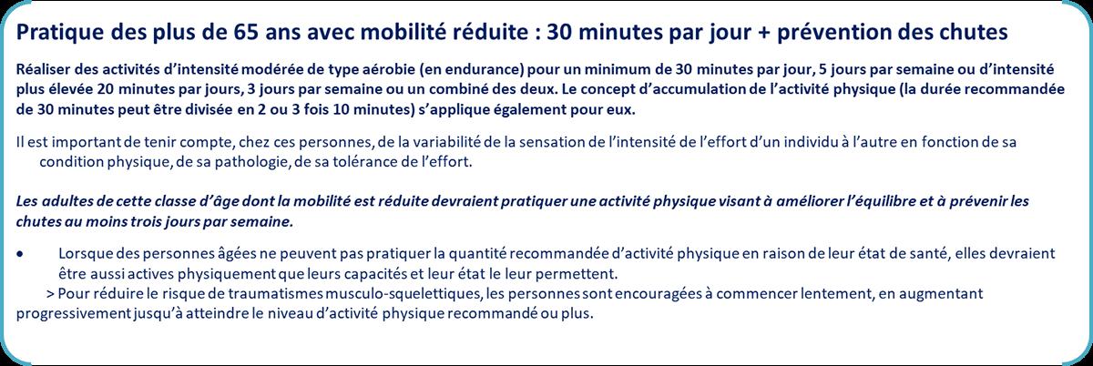 Pratique des plus de 65 ans avec mobilité réduite (Mooc Sport Santé - IRBMS)