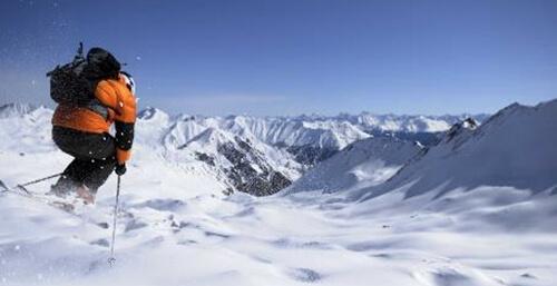 Soleil et sport de montagne