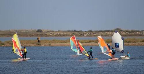 Soleil et sport nautique