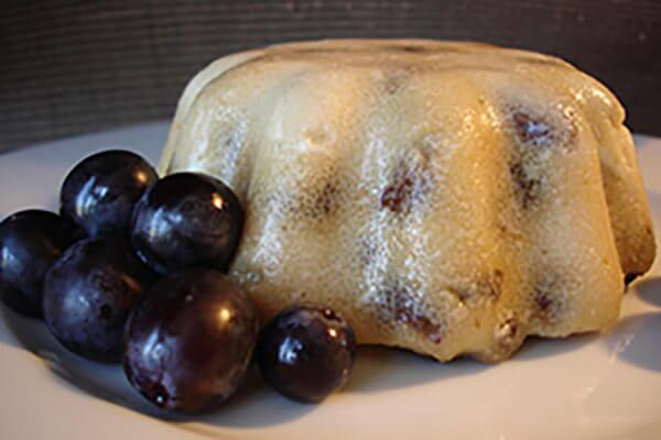Pudding aux raisins et à la vanille