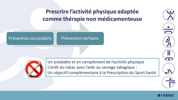 Prescrire l'APA comme thérapie non médicamenteuse
