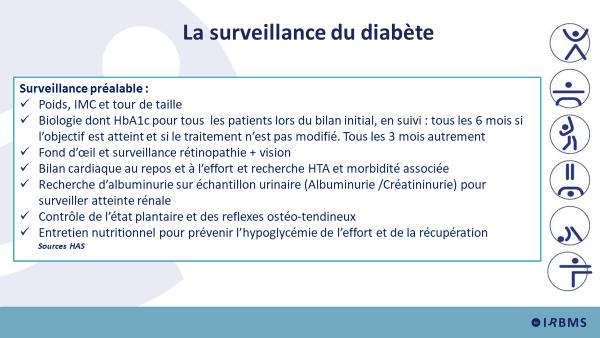 Le surveillance du diabète