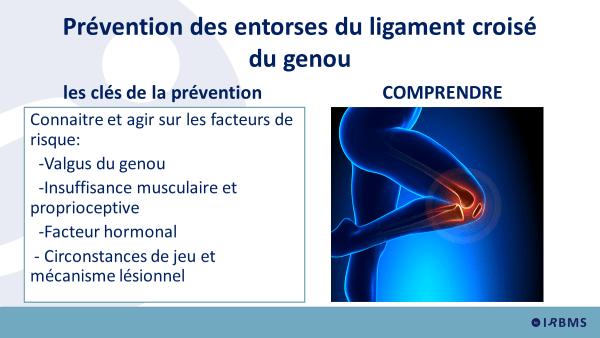 02 - LCA : prévention des entorses du ligament croisé du genou